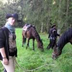 Amazonenritt 2012 Pferdepause
